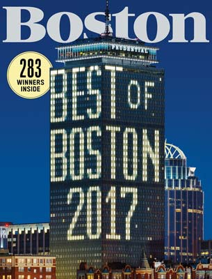 Boston Magazine July, 2017 Cover